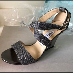Jimmy Choo Fearne Anthracite Wedge Shoe